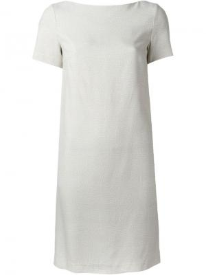 Платье шифт Borbonese. Цвет: телесный