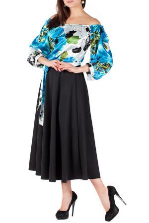 Платье Mannon. Цвет: черно-голубой