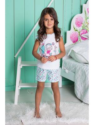 Комплект одежды Sweet Berry. Цвет: белый