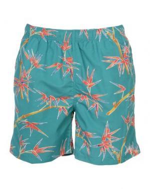 Пляжные брюки и шорты EDWIN. Цвет: светло-зеленый