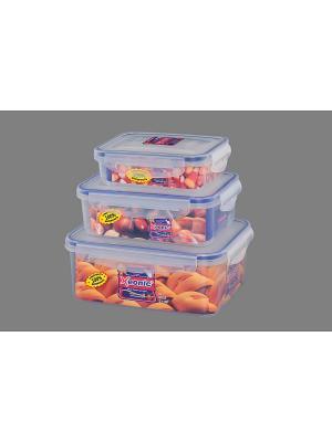 Набор 3 - х контейнеров XEONIC CO LTD. Цвет: прозрачный, синий