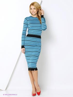 Джемпер CLABIN. Цвет: голубой, черный, бирюзовый