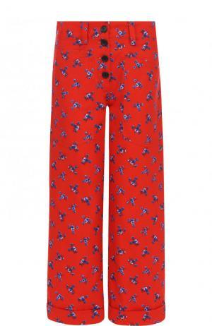 Укороченные джинсы прямого кроя с принтом Kenzo. Цвет: красный