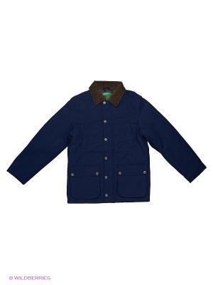 Куртка United Colors of Benetton. Цвет: темно-синий, темно-фиолетовый