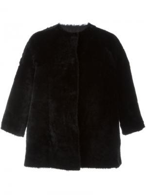 Укороченная куртка из искусственного меха Salvatore Santoro. Цвет: чёрный