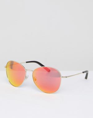 Matthew Williamson Солнцезащитные очки с красными затемненными стеклами Williamso. Цвет: красный
