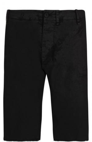 Хлопковые шорты с карманами Masnada. Цвет: черный