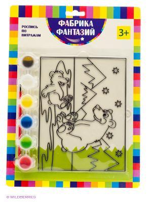 Н-р для росписи витража Белые медведи Фабрика Фантазий. Цвет: зеленый