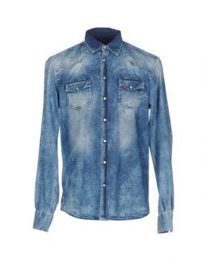 Джинсовая рубашка LIU •JO MAN. Цвет: синий