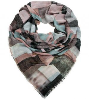 Легкий платок с содержанием шерсти Noryalli. Цвет: розовый