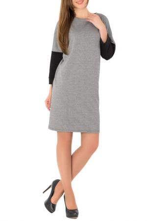 Платье S&A style. Цвет: серо-черный