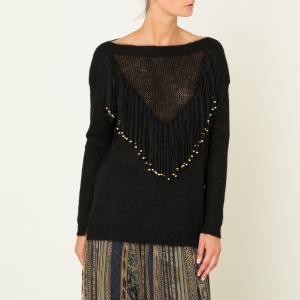 Пуловер женский AYOUNA MES DEMOISELLES. Цвет: слоновая кость,черный