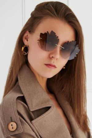 Солнцезащитные очки Ruban. Цвет: коричневый