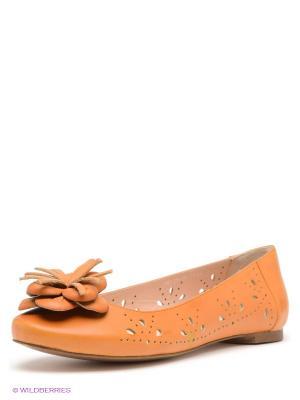 Балетки Calipso. Цвет: оранжевый