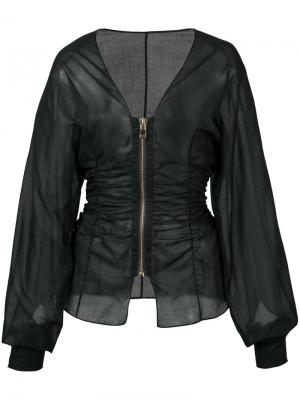 Fitted zip jacket Alexandre Vauthier. Цвет: чёрный