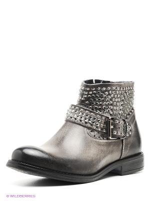 Ботинки CAFeNOIR. Цвет: серый, антрацитовый