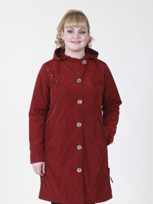 Пальто Нелли VIKO. Цвет: темно-красный