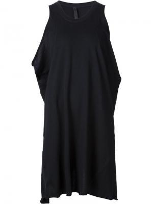 Платье с вырезом на спине Barbara I Gongini. Цвет: чёрный