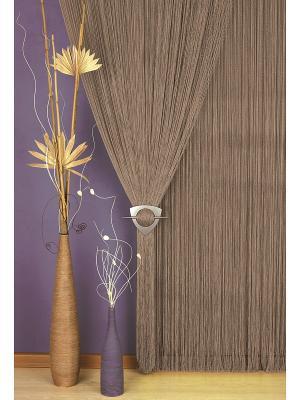 Гардина Haft. Цвет: коричневый, серый
