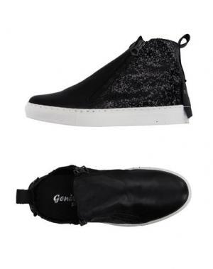 Высокие кеды и кроссовки GENEVE. Цвет: черный