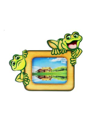 Фоторамка Лягушата, Ларец чудес. Цвет: зеленый, светло-коричневый