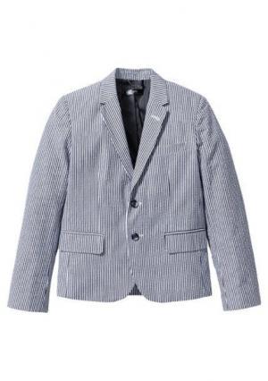 Пиджак. Цвет: дымчато-серый/белый в полоску