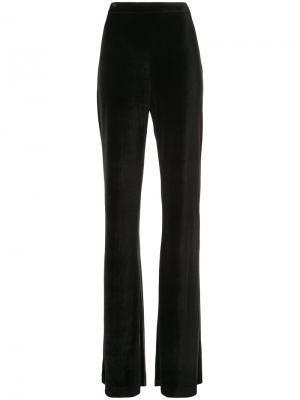 Расклешенные брюки с завышенной талией Christian Siriano. Цвет: чёрный