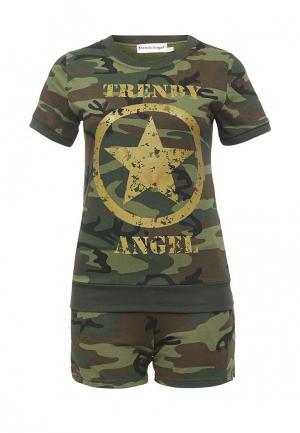 Пижама TrendyAngel. Цвет: хаки