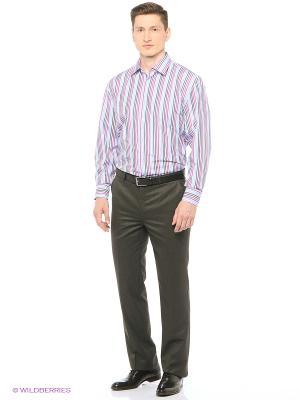 Рубашка мужская с длинным рукавом в полоску Mr. Marten. Цвет: светло-голубой, красный