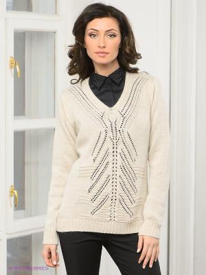 Пуловер DRS Deerose. Цвет: бежевый