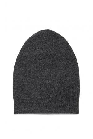 Двусторонняя шапка из кашемира 173086 Andre Maurice. Цвет: серый