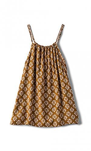 Мини платье capri Acacia Swimwear. Цвет: коричневый