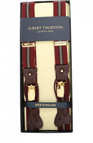 Подтяжки Albert Thurston. Цвет: бордовый