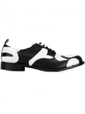 Двухцветные туфли-дерби Comme Des Garçons Homme Plus. Цвет: чёрный