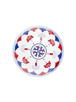 Набор тарелок десертных СТАМБУЛ 21 см 6 шт Biona. Цвет: голубой