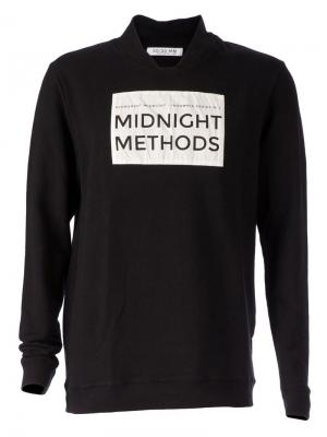 Стилизованный свитер с принтом-логотипом 00:00:Mm Midnight Methods. Цвет: чёрный