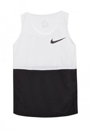 Майка спортивная Nike. Цвет: разноцветный