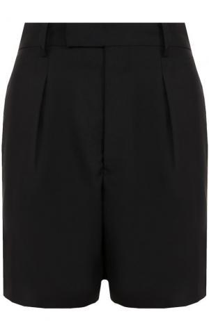 Мини-шорты с защипами и завышенной талией Junya Watanabe. Цвет: черный
