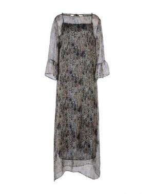 Платье длиной 3/4 ZHELDA. Цвет: серый