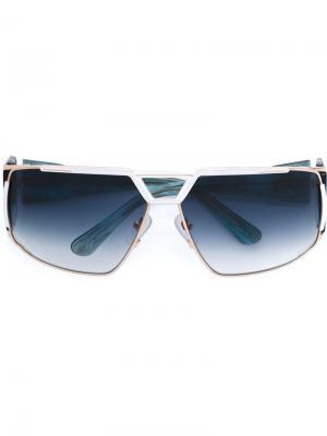 Солнцезащитные очки Heat Devil Frency & Mercury. Цвет: синий