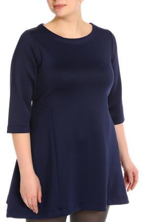 Свободное платье с рукавами 3/4 Daniela Fargion. Цвет: синий
