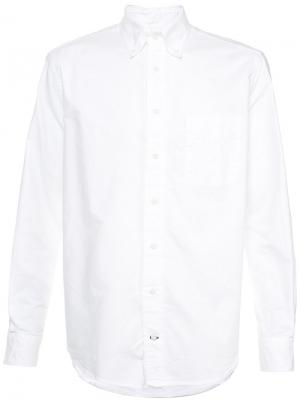 Классическая рубашка Gitman Vintage. Цвет: белый
