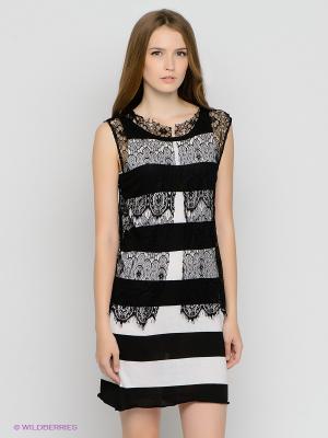 Платье Gaudi. Цвет: черный, белый