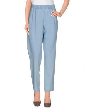 Повседневные брюки EQUIPMENT FEMME. Цвет: небесно-голубой