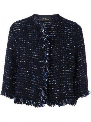 Укороченный пиджак Les Copains. Цвет: синий