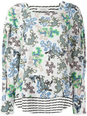 Блузка с цветочным принтом Dorothee Schumacher. Цвет: белый