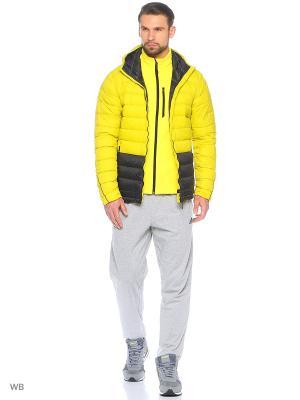 Куртка Light Down Hooded Jacket Adidas. Цвет: салатовый, черный