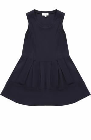 Трикотажное платье без рукавов с защипами Aletta. Цвет: темно-синий