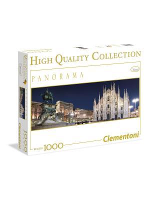 Пазл Панорама. Милан, Вид на Соборную площадь. 1000 элементов. Clementoni. Цвет: синий, серый, темно-серый