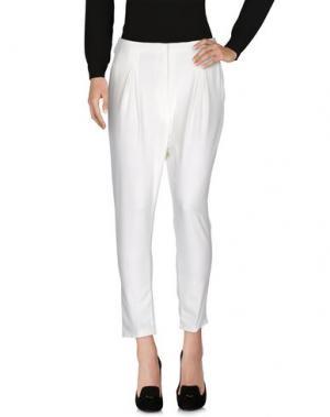 Повседневные брюки BERNA. Цвет: белый